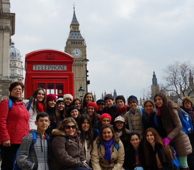 Students with Big Ben